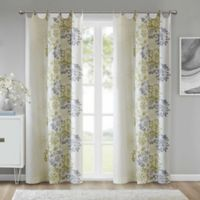 Anya 84-Inch Grommet Window Curtain Panel in Green/White