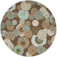 Trans-Ocean Ravella Disco Driftwood 8-Foot Round Area Rug in Driftwood