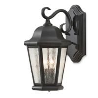 Feiss® Martinsville Outdoor 14.5-Inch Wall Lantern in Black