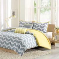 Nadia Reversible King California Comforter Set In Yellow