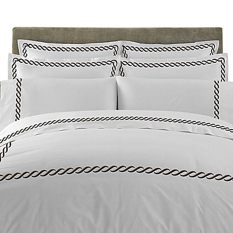 buy t y group cable embroidered european pillow sham in chocolate set of 2 from bed bath beyond. Black Bedroom Furniture Sets. Home Design Ideas