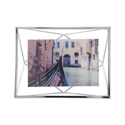 umbra prisma 4 inch x 6 inch photo frame in chrome