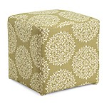 Dwell Home 16.5-Inch Axis Gabrielle Cube Ottoman in Moss