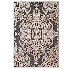 Delightful Safavieh Paradise Collection Venetian Damask Rug In Stone Anthracite