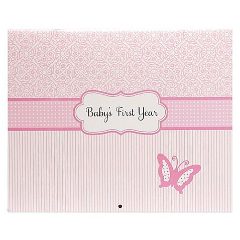 Pink Calendar Baby Book