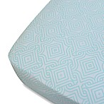Oliver B Mix & Match Fitted Crib Sheet in Sea Green Stems