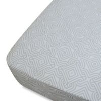 Oliver B Mix & Match Fitted Crib Sheet in Grey Stems