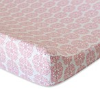 Oliver B Mix & Match Changing Pad Cover in Pink Petals