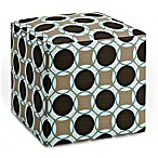 Dwell Home 16.5-Inch Axis Aura Cube Ottoman in Pool
