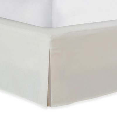 wraparound wonderskirt queen bed skirt in ivory