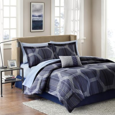 Buy Blue Comforter Sets Queen From Bed Bath Beyond - Blue bedding and comforter sets