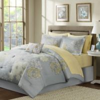 Madison Park Avalon 9-Piece Full Comforter Set in Grey