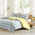 Nadia Reversible Full/Queen Duvet Cover Set in Yellow