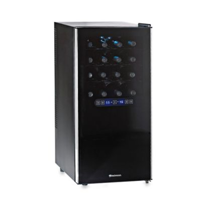 Wine Enthusiast Silent 32 Bottle Dual Zone Wine Cooler In Black