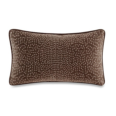 Bed Bath And Beyond Red Throw Pillows : Metropolitan Home Eclipse Oblong Throw Pillow in Brown - Bed Bath & Beyond