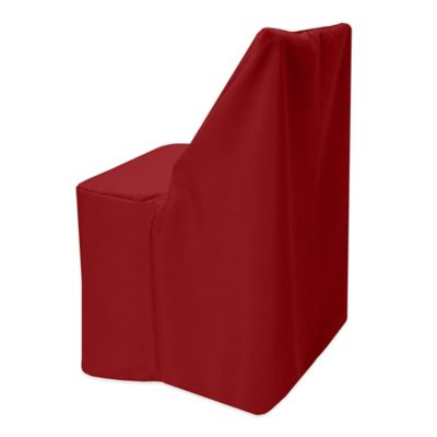 basic polyester cover for wood folding chair in cherry red