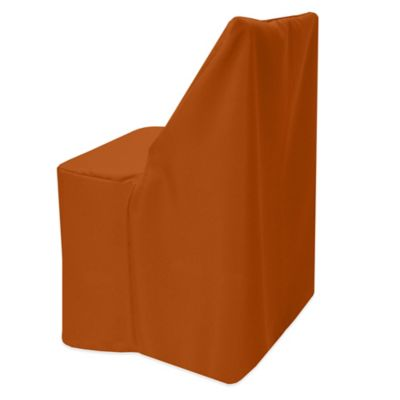 Nice Basic Polyester Cover For Wood Folding Chair In Burnt Orange