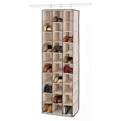 Whitmor 30 Section Hanging Shoe Shelves in Beige  sc 1 st  Bed Bath u0026 Beyond : shoe bin storage  - Aquiesqueretaro.Com
