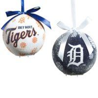 MLB Detroit Tigers LED Lighted Christmas Ornament Set (Set of 6)