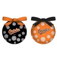 MLB Baltimore Orioles LED Lighted Christmas Ornament Set (Set of 6)