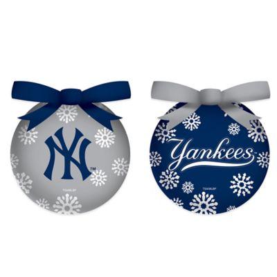 mlb new york yankees led lighted christmas ornament set set of 6 - Lighted Christmas Ornaments