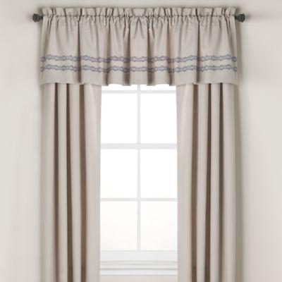 wamsutta tapestry window valance in beige