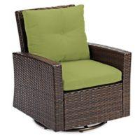 Barrington Wicker Swivel Chair in Lime
