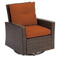 Barrington Wicker Swivel Chair in Terracotta