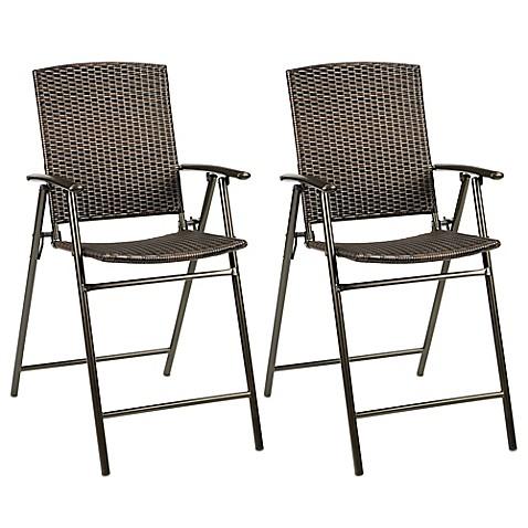 Stratford Wicker Folding Balcony Chair Set Of 2