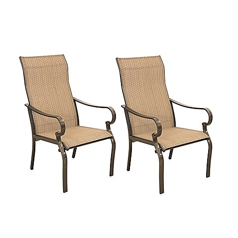 Hawthorne oversized sling chairs set of 2 bed bath for Terrace chairs
