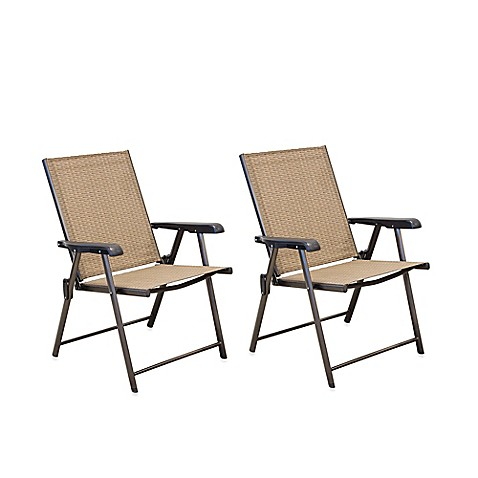 Hawthorne Folding Sling Chairs Set of 2 Bed Bath & Beyond