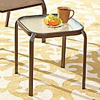 Hawthorne Glass Top Accent Table in Bronze