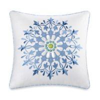Echo Design™ Sardinia Embroidered Square Throw Pillow in White