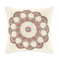 Echo Design™ Guinevere Square Throw Pillow in Cream