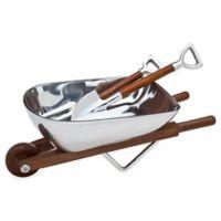 Godinger Wheelbarrow Salad Bowl & Servers