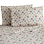 Micro Flannel® Printed Trees Queen Sheet Set in Brown