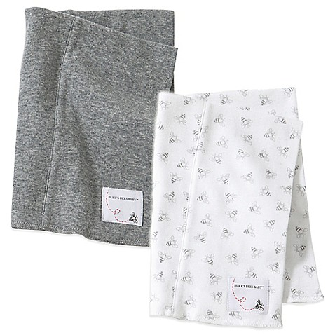 Burt S Bees Baby 174 2 Pack Organic Cotton Burp Cloths In