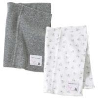 Burt's Bees Baby® 2-Pack Organic Cotton Burp Cloths in Grey/Bee