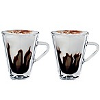 Luigi Bormioli Thermic Borosilicate Double-Wall Espresso Mugs (Set of 2)