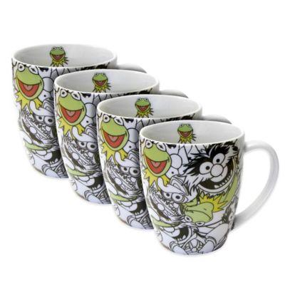 Disney® Kermit Allover Mugs (Set of 4)  sc 1 st  Bed Bath \u0026 Beyond & Buy Disney Dinnerware from Bed Bath \u0026 Beyond