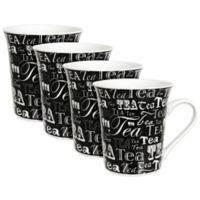 Zrike Tea Words Mugs (Set of 4)