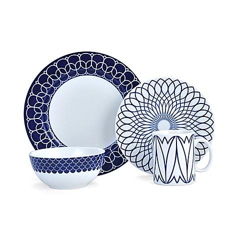 Mikasa lavina dinnerware collection in cobalt bed bath beyond - Vaisselle de luxe marque ...