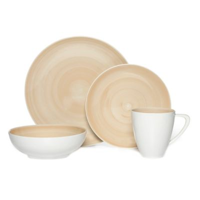 Mikasa® Savona 4-Piece Place Setting in Beige  sc 1 st  Bed Bath u0026 Beyond & Buy Cool Dinnerware Sets from Bed Bath u0026 Beyond