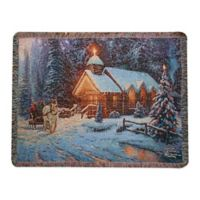"""""""Christmas Chapel"""" Decorative Tapestry Throw"""