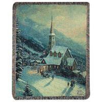 """Moonlight Village"" Decorative Tapestry Throw"