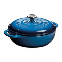 Lodge 3 qt. Enameled Cast Iron Dutch Oven in Blue