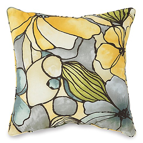 Outdoor 17-Inch Square Throw Pillow in Whitlock Yellow - Bed Bath & Beyond