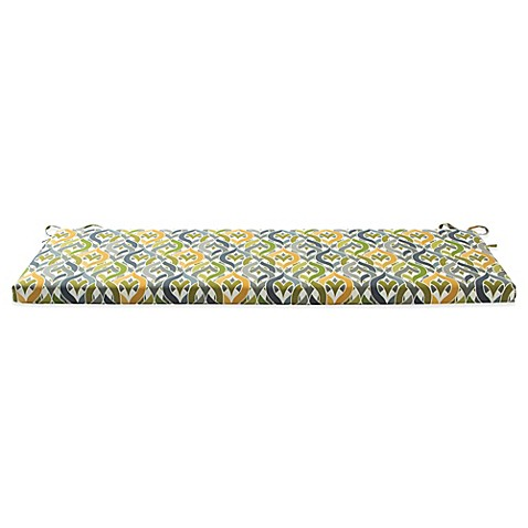Buy Outdoor Bench Cushion With Ties In Geo Yellow From Bed