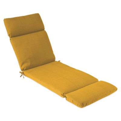 outdoor chaise cushion in yellow