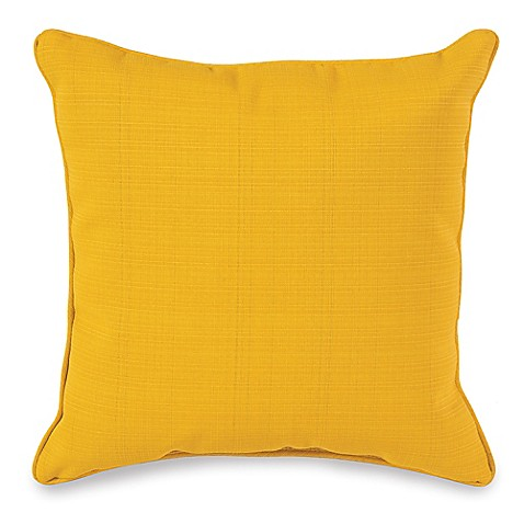 17 Inch Outdoor Square Throw Pillow In Yellow Bed Bath